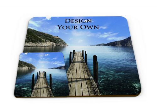 Personalised Set of Any Design Novelty Glossy Placemat & Coaster